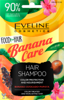 EVELINE - Food for Hair - Hair Shampoo Color Protection And Nourishment - Szampon do włosów koloryzowanych i z pasemkami - Banana Care - 20 ml