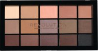 MAKEUP REVOLUTION - RELOADED SHADOW PALETTE - Paleta 15 cieni do powiek - BASIC MATTES