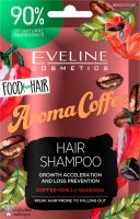 EVELINE - Food for Hair - Growth Acceleration and Loss Prevention Hair Shampoo - Regenerujący szampon do włosów słabych i z tendencją do wypadania - Aroma Coffee - 20 ml
