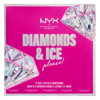 NYX Professional Makeup - DIAMONDS & ICE PLEASE! - 12 DAY LIPSTICK COUNTDOWN - Kalendarz adwentowy do makijażu ust