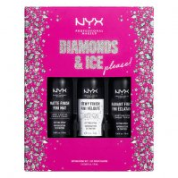 NYX Professional Makeup - DIAMONDS & ICE PLEASE! - SETTING SPRAY KIT - Zestaw prezentowy mgiełek do utrwalania makijażu - 3x18ml