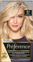L'Oréal - Préférence - Permanent Haircolor 9.1 OSLO - VIKING LIGHT ASH BLONDE - Farba do włosów - Trwała koloryzacja - Bardzo Jasny Popielaty Blond