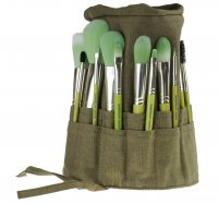 Bdellium tools - Green Bambu Series - Complete 15pc. Brush Set - Zestaw 15 pędzli w etui