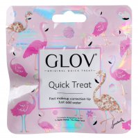 GLOV - QUICK TREAT Limited Flamingo Edition - Cheeky Peach - Mini rękawica do demakijażu - ZAWADIACKI BRZOSKWINIOWY