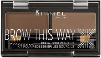 RIMMEL - BROW THIS WAY - BROW SCULPTING KIT - Zestaw do stylizacji brwi 2w1
