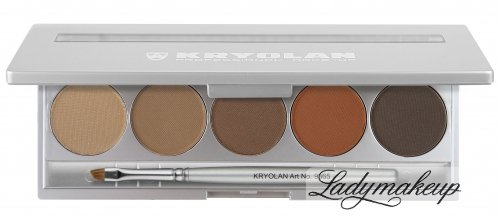 KRYOLAN - Eyebrow powder - Zestaw 5 pudrów do brwi - ART. 5355