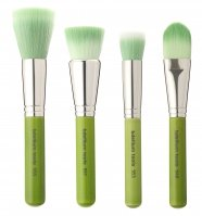 Bdellium tools - Green Bambu Series - Foundation 4pc. Brush Set - Zestaw 4 pędzli do podkładów