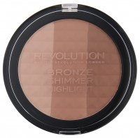MAKEUP REVOLUTION - BRONZE SHIMMER HIGHLIGHT - Puder brązujący