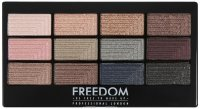 FREEDOM - PRO 12 ROMANCE AND JEWELS - Paleta 12 cieni do powiek