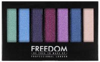 FREEDOM - PRO SHADE & BRIGHTEN PLAY KIT - Paleta 6 cieni do powiek + rozświetlacz