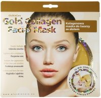 GlySkinCare - Gold Collagen Facial Mask - Kolagenowa maska do twarzy ze złotem
