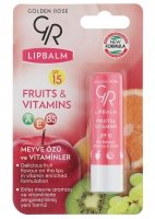 Golden Rose - LIP BALM FRUITS & VITAMINS - Pomadka ochronna OWOCOWO-WITAMINOWA - R-GLB-FRU