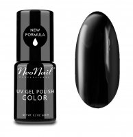 NeoNail - UV GEL POLISH COLOR - GRUNGE - Lakier hybrydowy - 6 ml - 2996-1 - PURE BLACK - 2996-1 - PURE BLACK