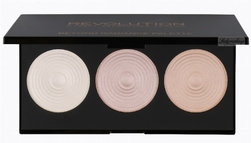 MAKEUP REVOLUTION - BEYOND RADIANCE - 3 RADIANT LIGHTS HIGHLIGHTERS - Paleta 3 rozświetlaczy do twarzy i ciała