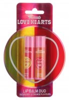 MAKEUP REVOLUTION - Swizzels LOVE HEARTS - LIP BALM DUO - Zestaw 2 balsamów do ust