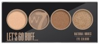 W7 - LET'S GO BUFF - NATURAL NUDES EYE COLOUR PALETTE - Paleta 4 cieni do powiek