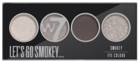 W7 - LET'S GO SMOKEY - SMOKEY EYE COLOUR PALETTE - Paleta 4 cieni do powiek