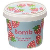Bomb Cosmetics - Strawberry Fields - Body Polish - Peeling pod prysznic - TRUSKAWKOWE POLA