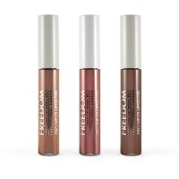 FREEDOM - PRO MELTS - NAKED - Collection Long Lasting & Intense Colour - Zestaw 3 błyszczyków do ust