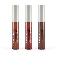 FREEDOM - PRO MELTS - STRIPPED - Collection Long Lasting & Intense Colour - Zestaw 3 błyszczyków do ust