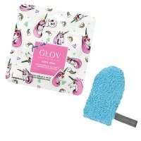 GLOV - QUICK TREAT Limited Unicorn Edition - Bouncy Blue - Mini rękawica do demakijażu - SPORTOWY BŁĘKIT