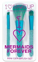 I Heart Revolution - I ♡ Mermaids Forever - MINI GEM BRUSH SET - Zestaw 3 pędzli do makijażu