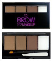I ♡ Makeup - BROWS KIT - 3 Eyebrow Powder + Wax - Zestaw do makijażu brwi