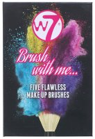 W7 - Brush with me... - FIVE FLAVLESS MKE UP BRUSHES - Zestaw 5 pędzli do makijażu