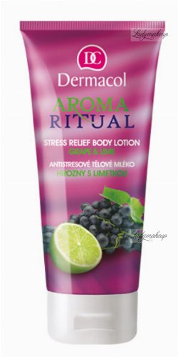 Dermacol - AROMA RITUAL - STRESS RELIEF BODY LOTION - GRAPE & LIME - Balsam do ciała o zapachu winogron i limonki
