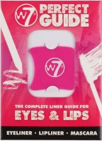 W7 - THE COMPLETE LINER GUIDE FOR EYES & LIPS - Zestaw 4 szablonów do makijażu