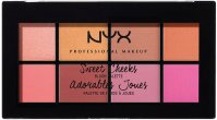 NYX Professional Makeup - Sweet Cheeks Blush Palette - Paleta 8 róży do policzków