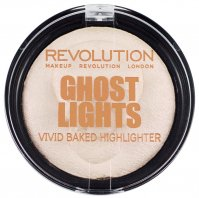 MAKEUP REVOLUTION - Ghost Lights VIVID Baked Highlighter - Rozświetlacz do twarzy w pudrze