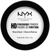 NYX Professional Makeup - HD FINISHING POWDER - Prasowany puder transparentny do makijażu