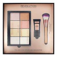 MAKEUP REVOLUTION - PRO AMPLIFIED STROBE AND HIGHLIGHTING - Zestaw do rozświetlania twarzy
