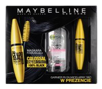 MAYBELLINE - THE COLOSSAL VOLUM' EXPRESS MASCARA & GARNIER MICELLAR CLEANSING WATER - Pogrubiający tusz do rzęs + płyn micelarny