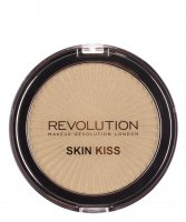 MAKEUP REVOLUTION - SKIN KISS - Highlighter - Rozświetlacz do twarzy - GOLDEN KISS - GOLDEN KISS