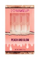 I ♡ Makeup - PEACH AND GLOW - HIGHLIGHT & ILLUMINATOR DUO - Rozświetlająca paleta do konturowania twarzy