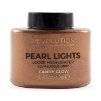 MAKEUP REVOLUTION - PEARL LIGHTS - LOOSE HIGHLIGHTER - Sypki rozświetlacz - CANDY GLOW - CANDY GLOW