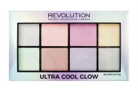MAKEUP REVOLUTION - ULTRA COOL GLOW - HIGHLIGHTER PALETTE - Paleta rozświetlaczy