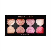 MAKEUP REVOLUTION - 8 BLUSH PALETTE - BLUSH QUEEN - Paleta róży