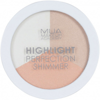 MUA - Highlight Perfection Shimmer - Spotlight Sheen - Zestaw 3 rozświetlaczy