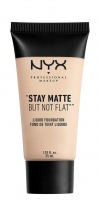 NYX Professional Makeup - STAY MATTE BUT NOT FLAT LIQUID FOUNDATION - Podkład matujący - SMF01.3 - ALABASTER - SMF01.3 - ALABASTER