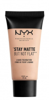 NYX Professional Makeup - STAY MATTE BUT NOT FLAT LIQUID FOUNDATION - Podkład matujący - SMF01.5 - LIGHT BEIGE - SMF01.5 - LIGHT BEIGE