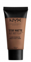 NYX Professional Makeup - STAY MATTE BUT NOT FLAT LIQUID FOUNDATION - Podkład matujący - SMF18.7 - DEEP RICH - SMF18.7 - DEEP RICH