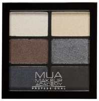 MUA - 6 Shade Palette - Smokey Shadows - Paleta 6 cieni do powiek
