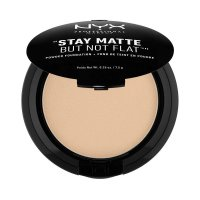 NYX Professional Makeup - STAY MATTE BUT NOT FLAT - Pudrowy podkład w kompakcie - 02 - NUDE - 02 - NUDE
