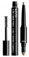 NYX Professional Makeup - SOURCILS 3IN1 BROW - Produkt 3w1 do makijażu brwi