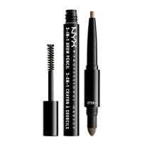 NYX Professional Makeup - SOURCILS 3IN1 BROW - Produkt 3w1 do makijażu brwi - 31B06 - BRUNETTE - 31B06 - BRUNETTE