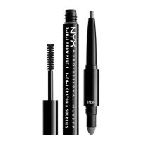 NYX Professional Makeup - SOURCILS 3IN1 BROW - Produkt 3w1 do makijażu brwi - 31B09 - CHARCOAL - 31B09 - CHARCOAL