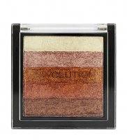 MAKEUP REVOLUTION - SHIMMER BRICK - Rozświetlacz - ROSE GOLD